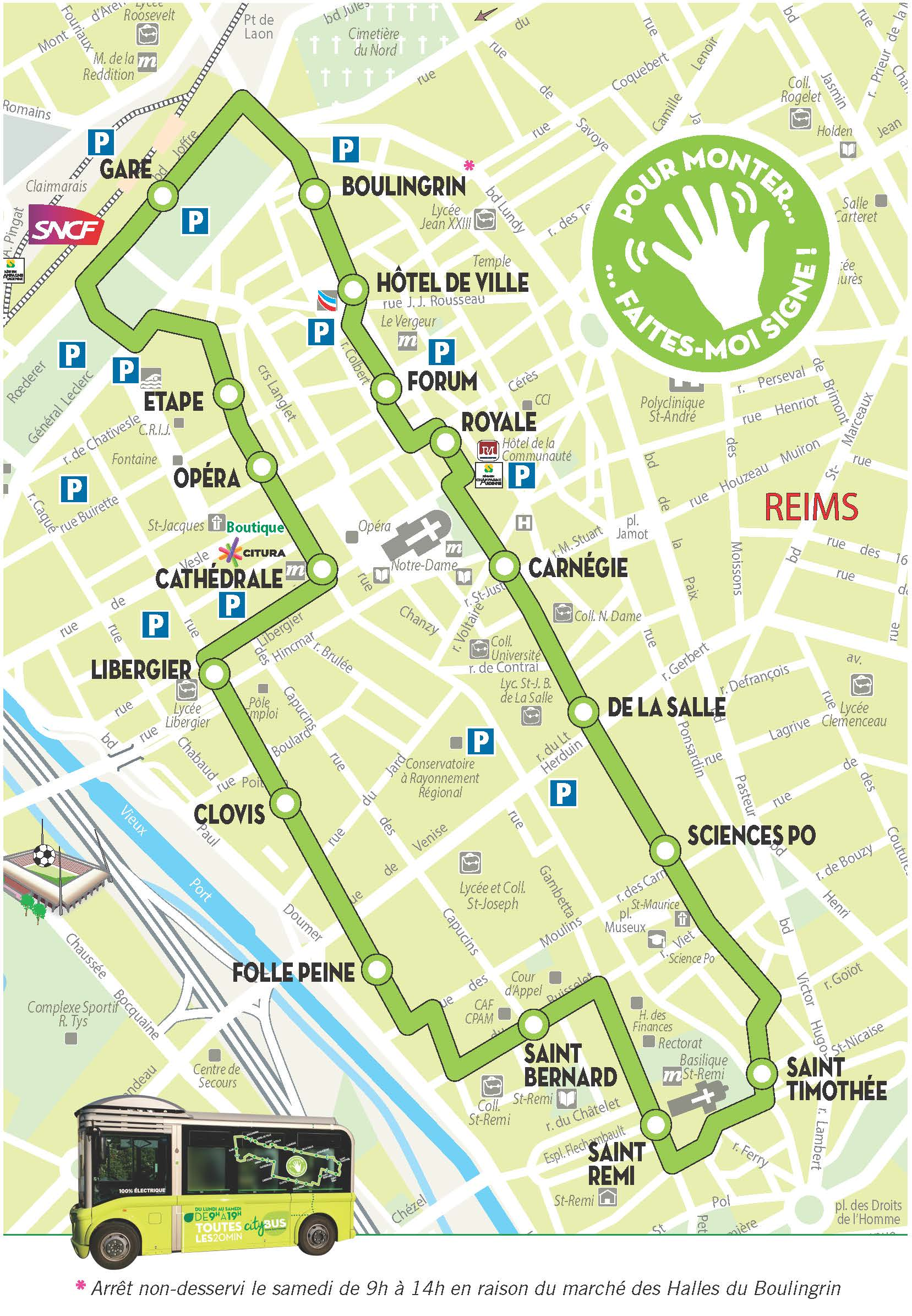 PLan Citybus 2016 Городской транспорт Реймса